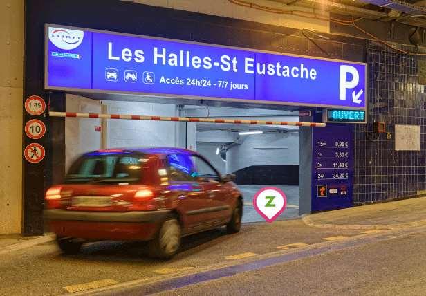 Parking Saemes Les Halles-St Eustache - Parking réservable en ligne - Paris